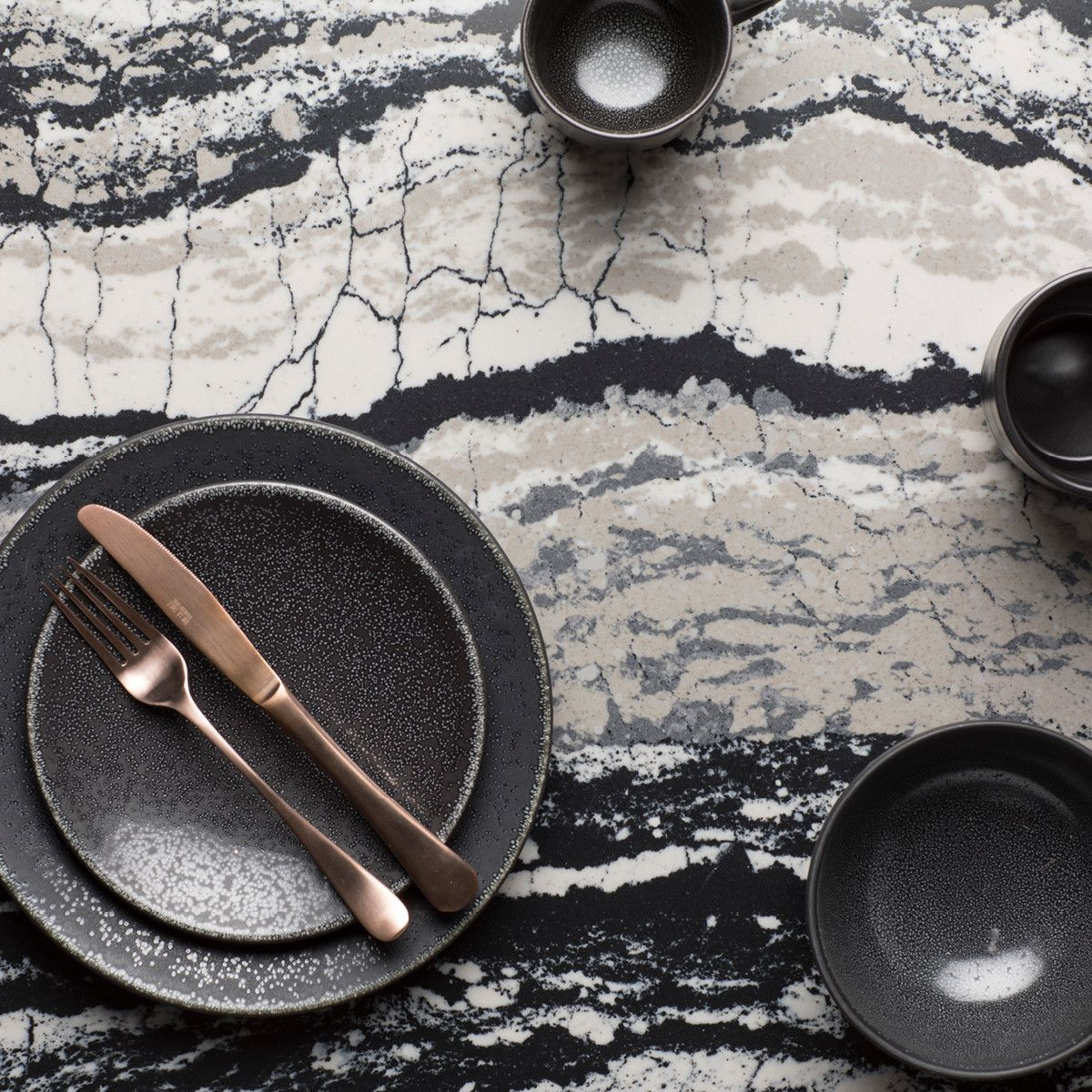 Redefine your dining space by pairing Levven with stunning dinnerware.