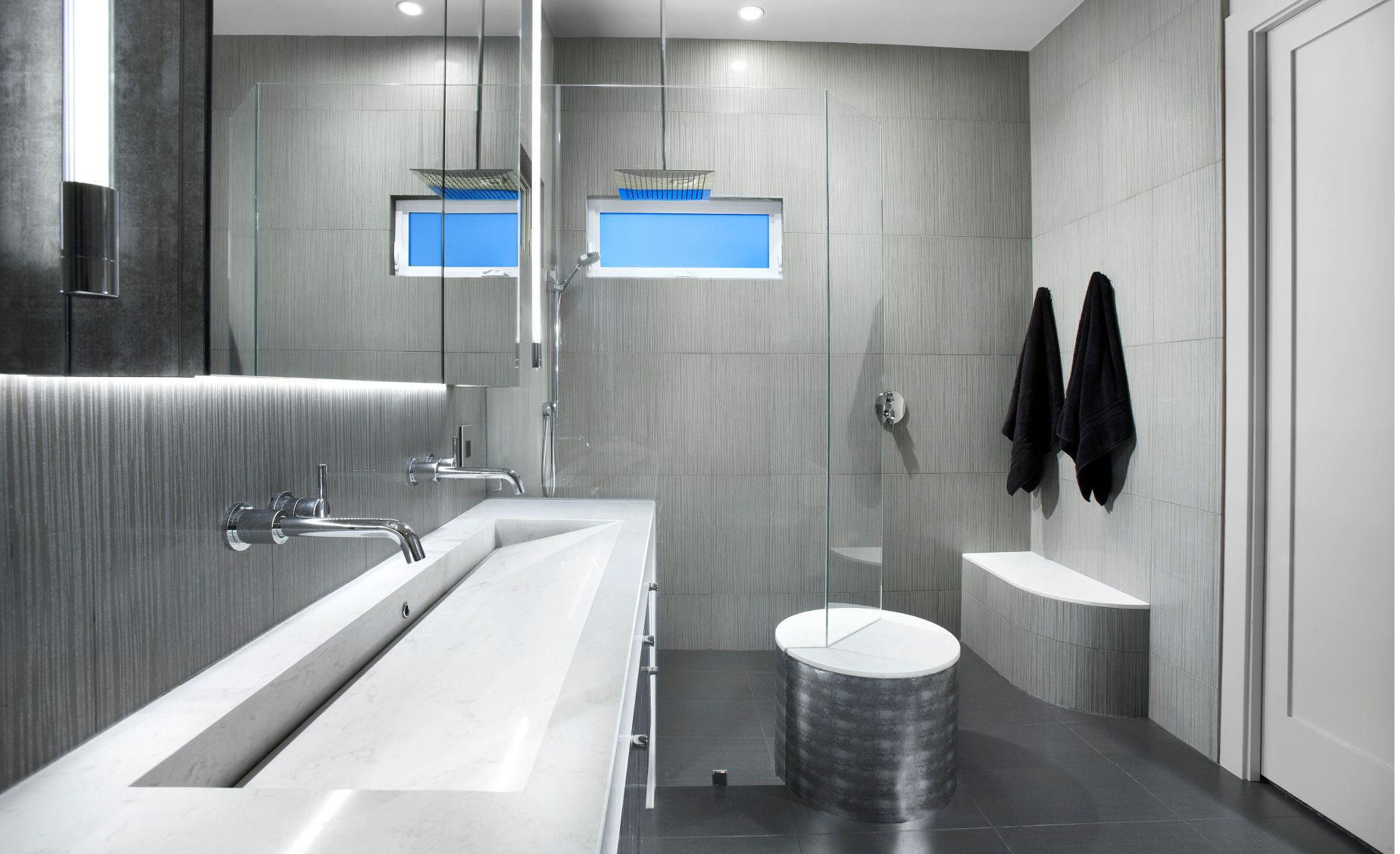 Custom Cambria trough sink using Torquay.
