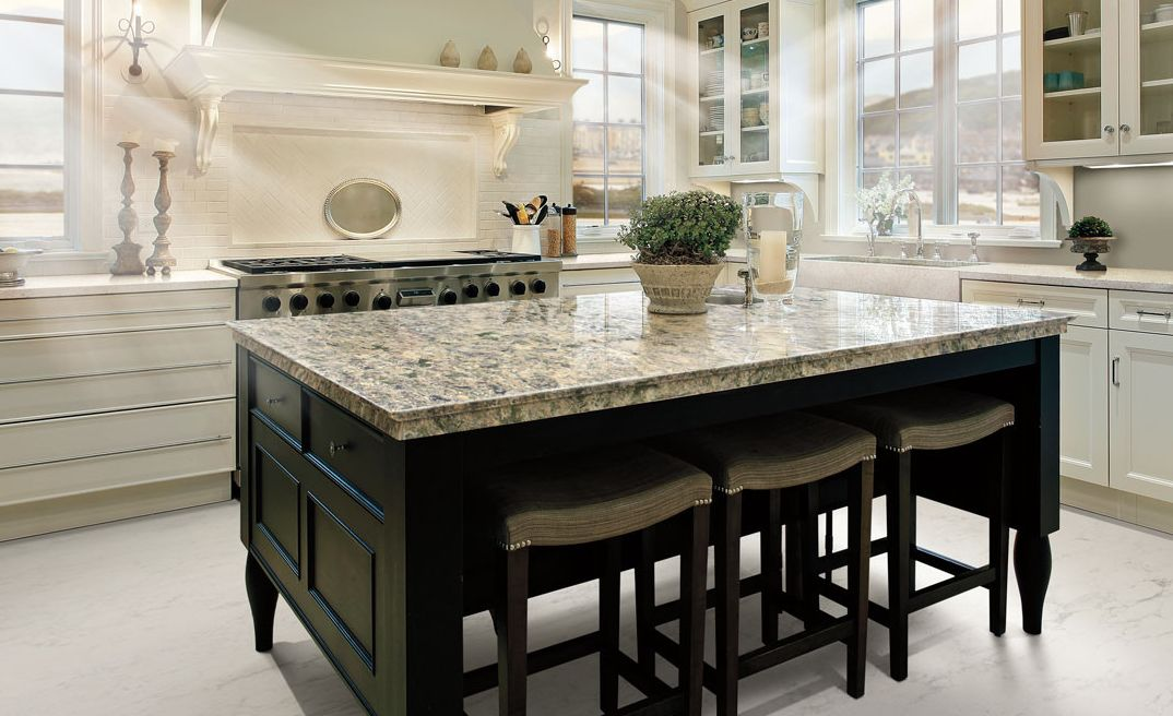 Cambria Wentwood is a stunning alternative to green granite countertops.