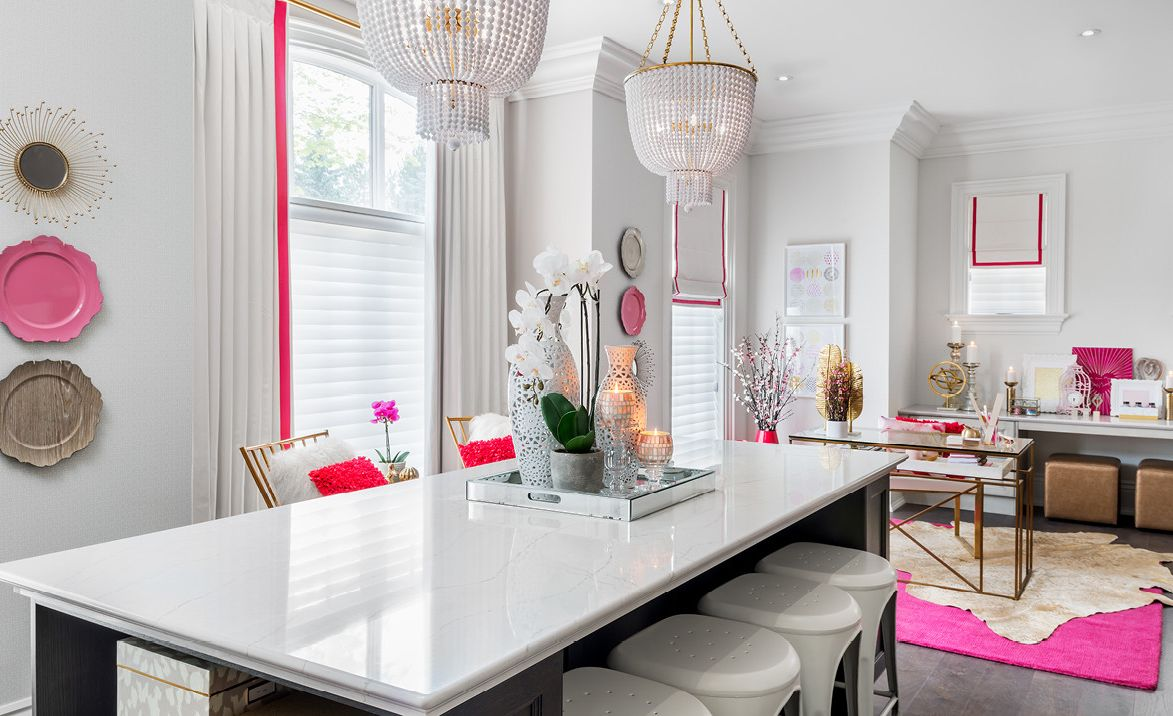 Glam craft room with an Ella™.