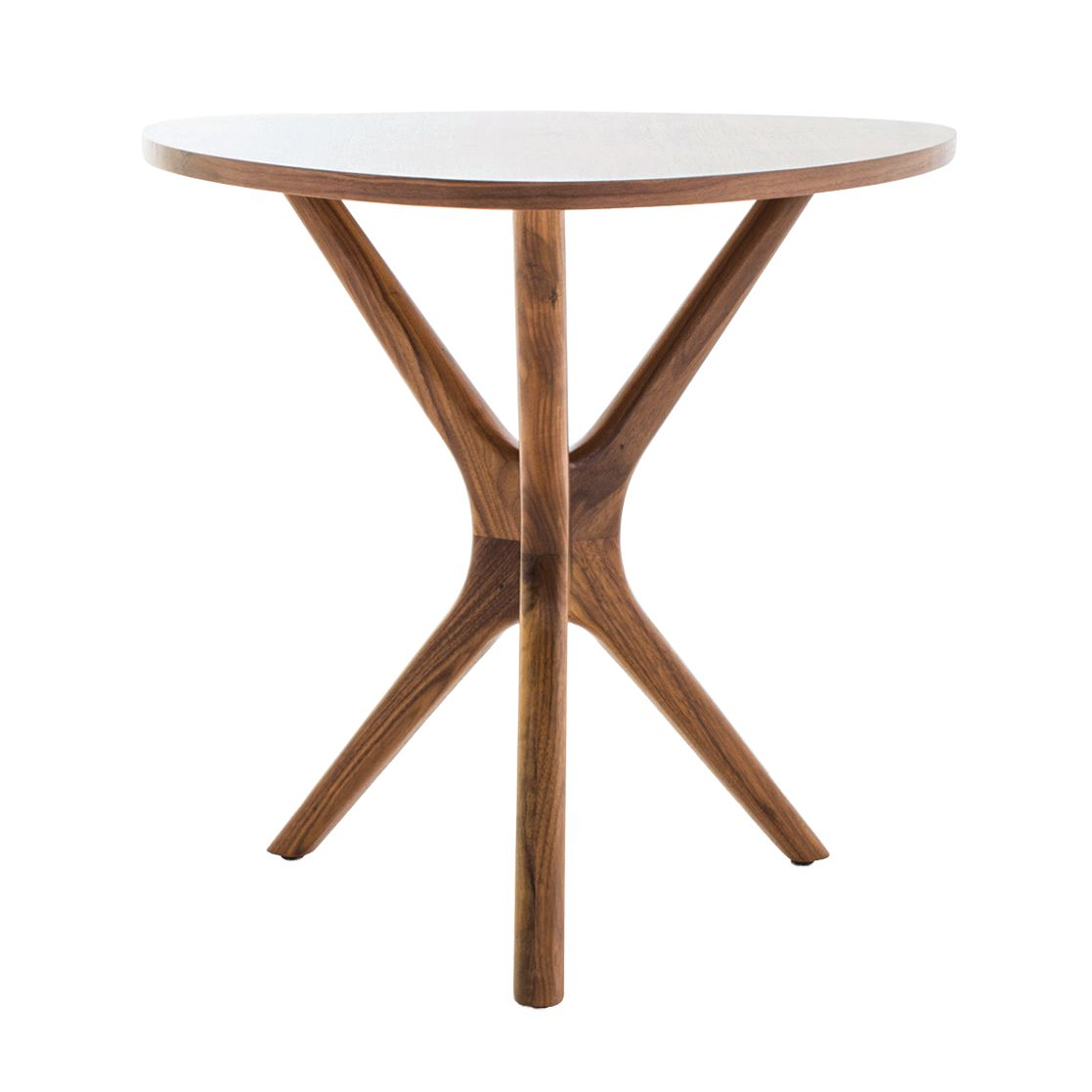 Tolson walnut end table by Joybird