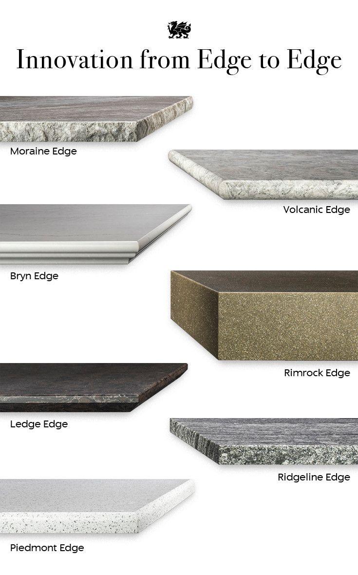 Cambria countertop edge profiles.