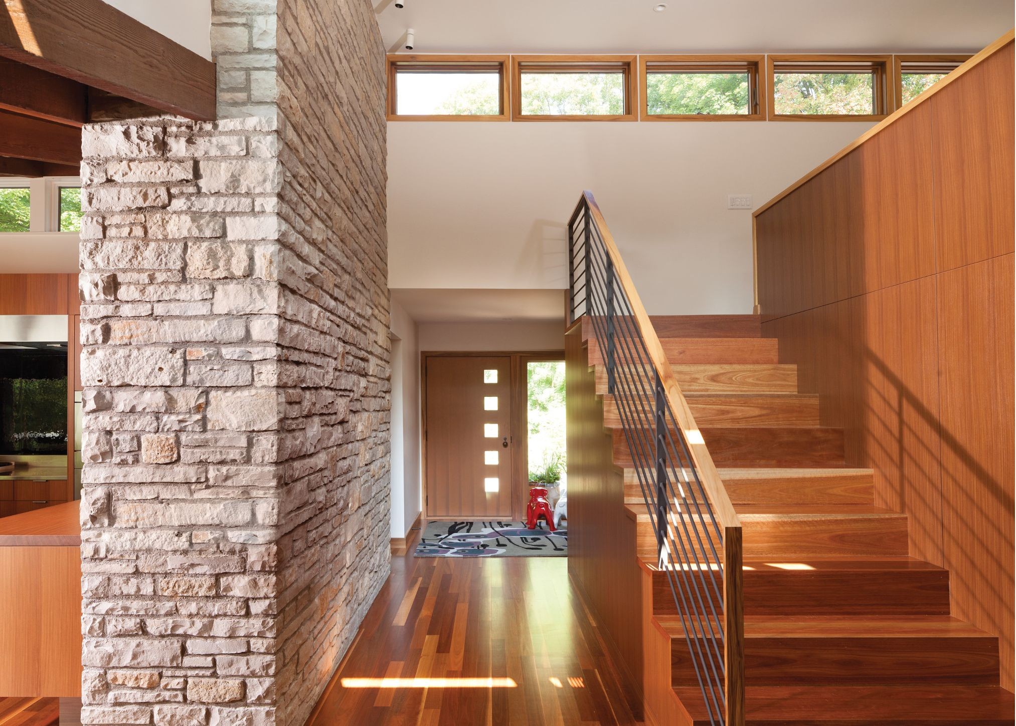 Cambria-quartz-countertop-entryway-stairwell