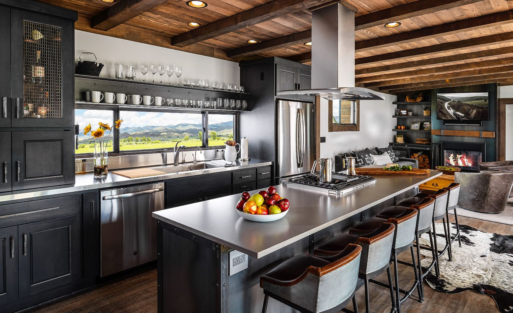 Nomadic Shack creates luxury Cambria spaces featuring Cambria Devon Matte countertops.