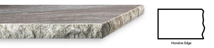 Cambria chiseled Moraine edge profile.