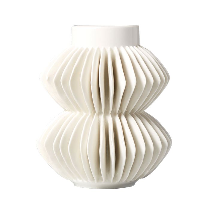 Celia white porcelain vase from CB2