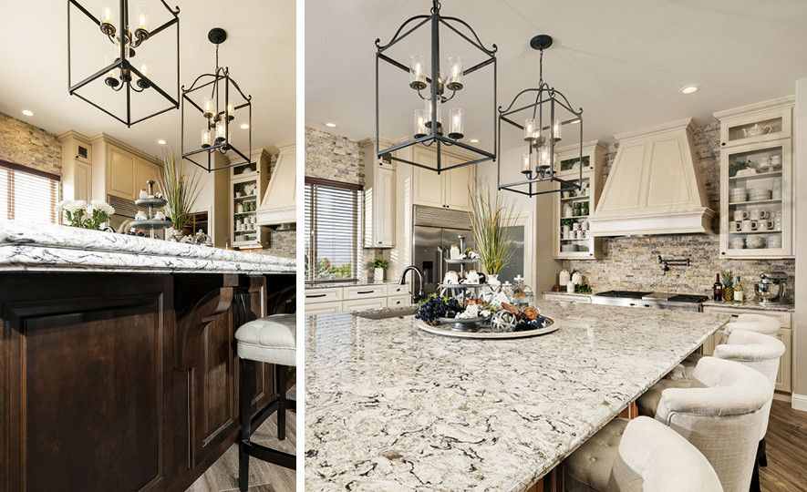 Cambria Bellingham countertops with a traditional style Bryn edge.