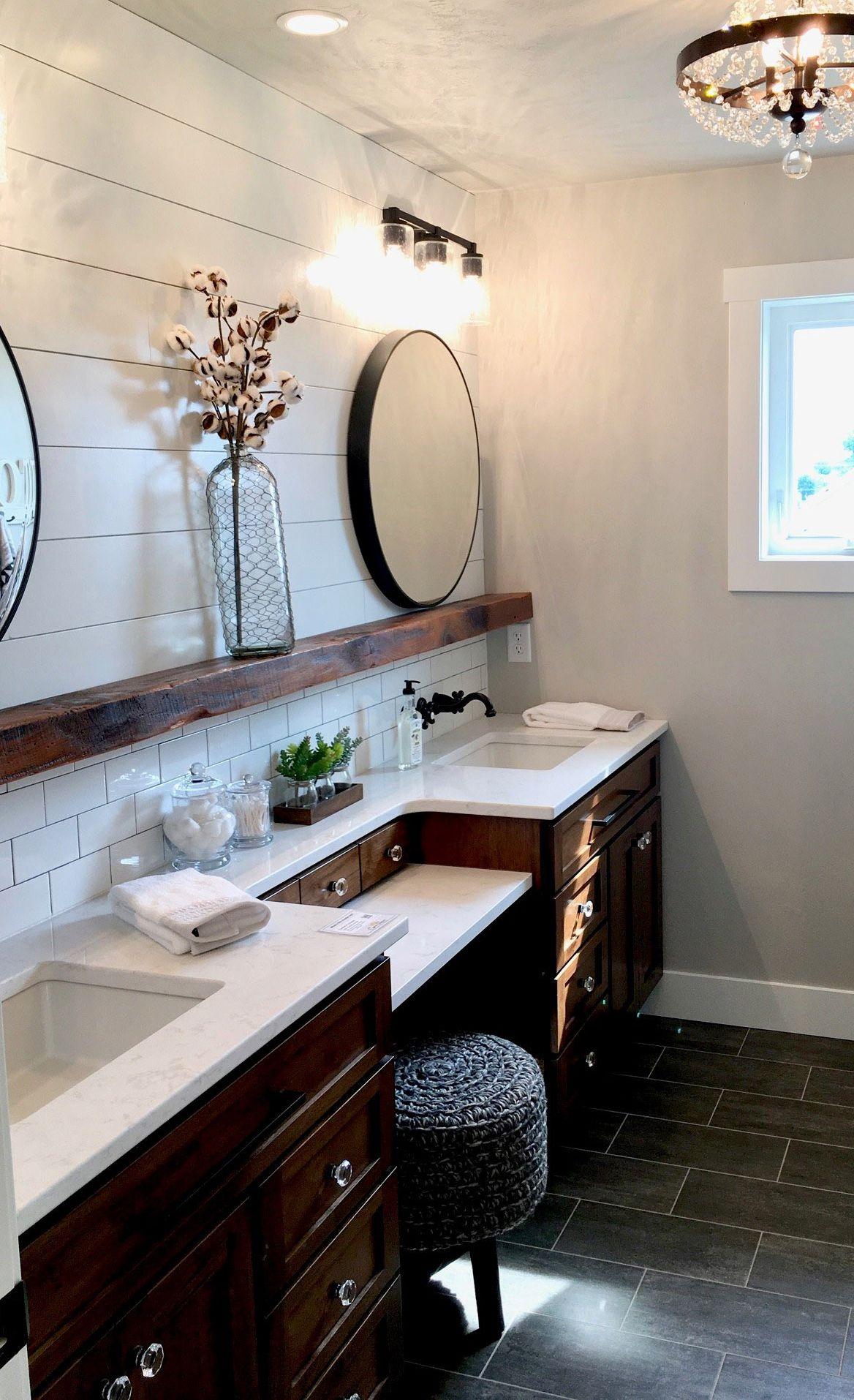 Custom bathroom vanity with Cambria Torquay.