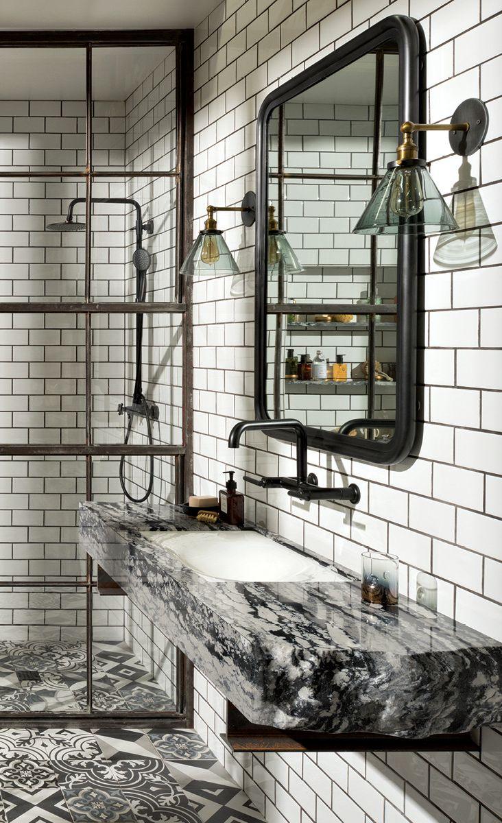 A raw-edge Levven vanity.