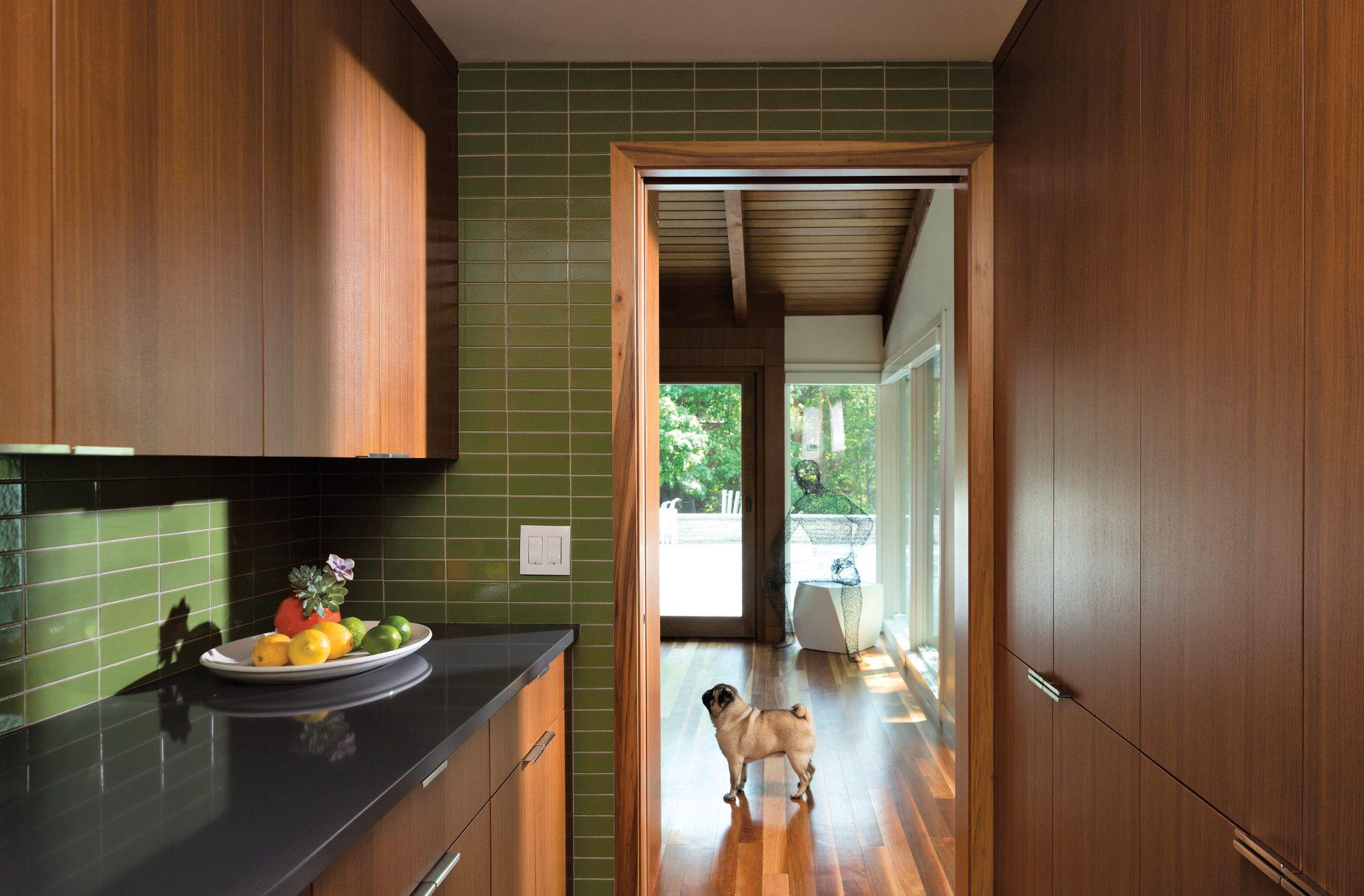mid-century modern pantry