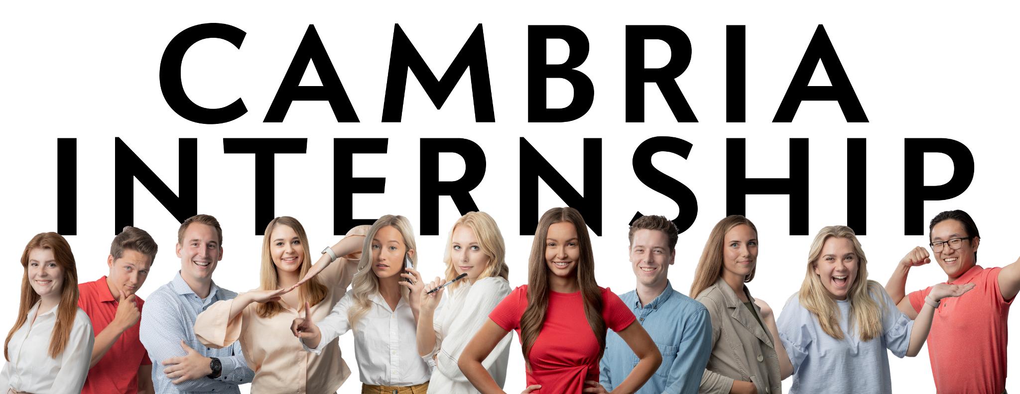Cambria-Internship-Banner