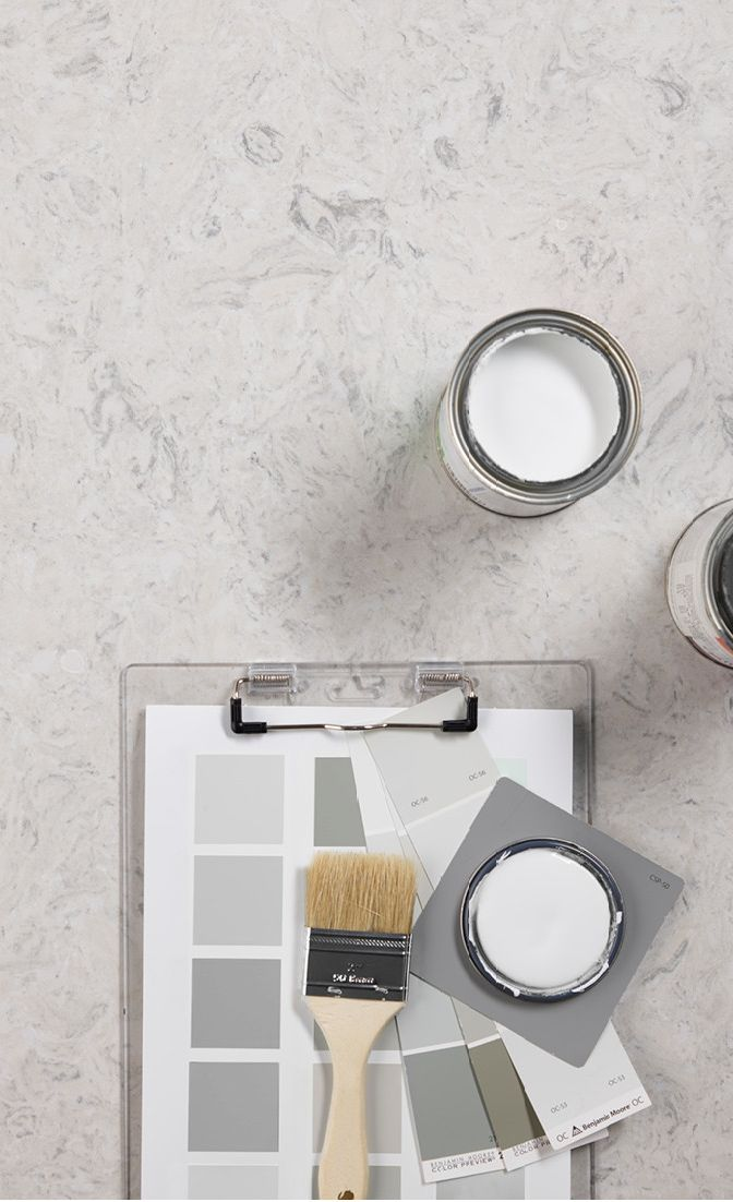 Cambria Highgate pair perfectly with Benjamin Moore paints.