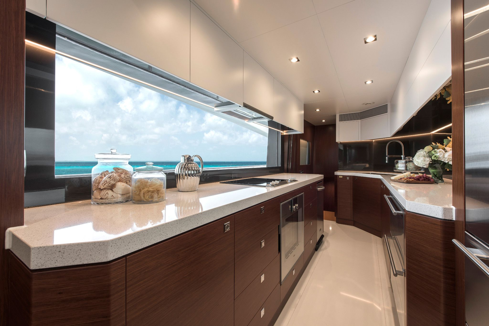 A stunning view from this yacht with Cambria Snowden White makes the perfect get away.