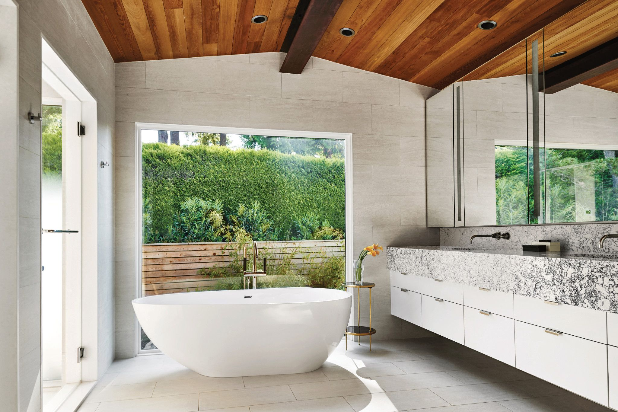 Master Bathroom Mid-century Contemporary