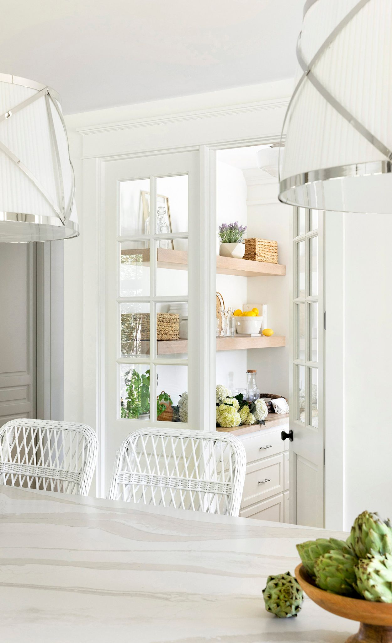 Create a stylish prep space with a walk-in pantry.