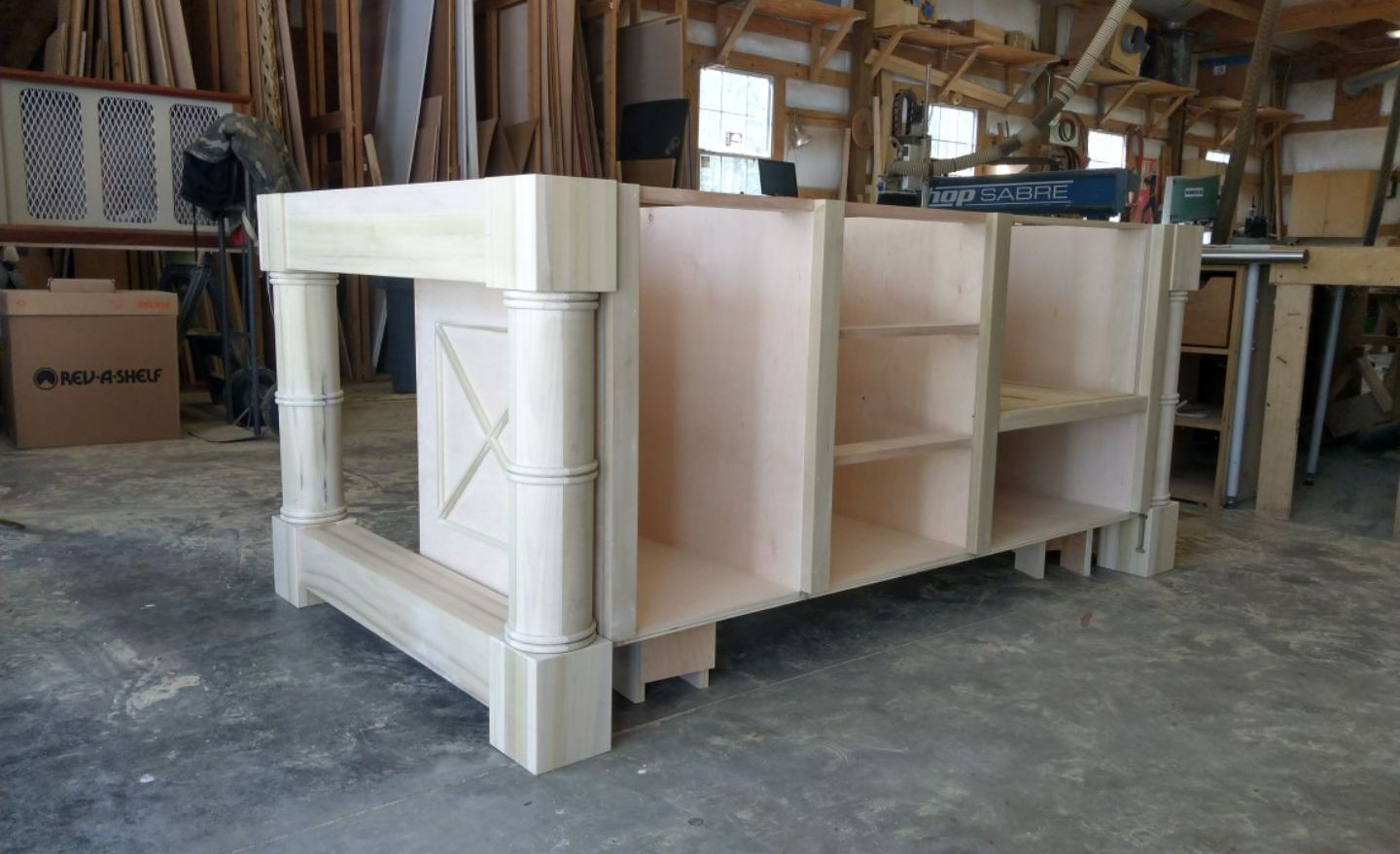 Custom kitchen island.