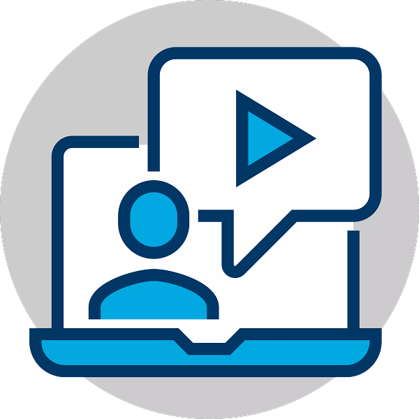 Recorded webinar icon