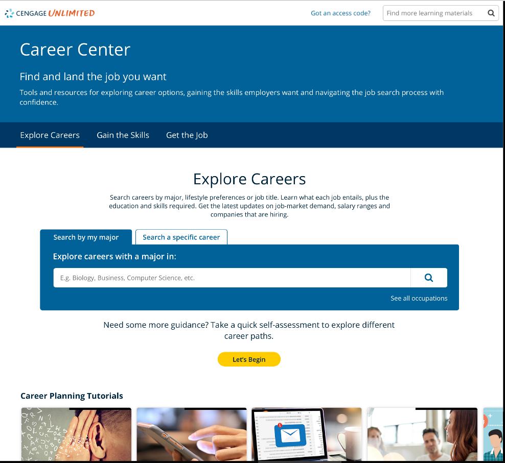 Career Center Home