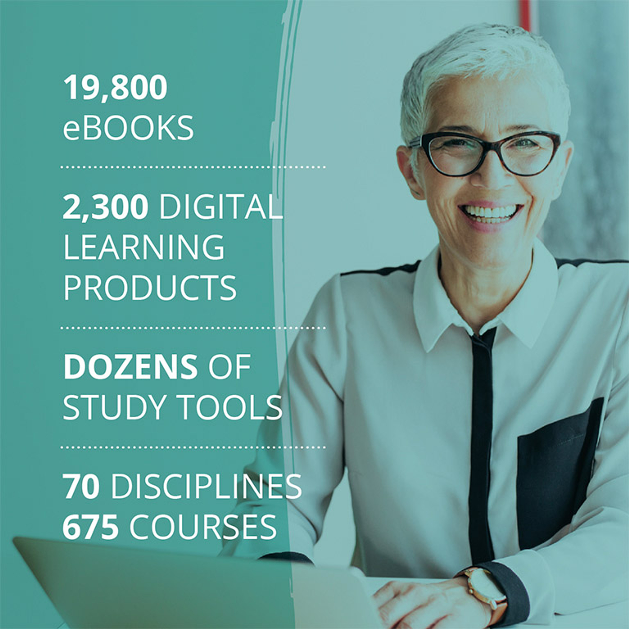 eBooks, Digital Learning Products, Study Tools - 70 Disciplines - 675 Courses