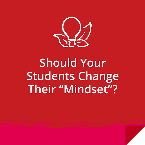 Should Your Students Change Their Mindset?