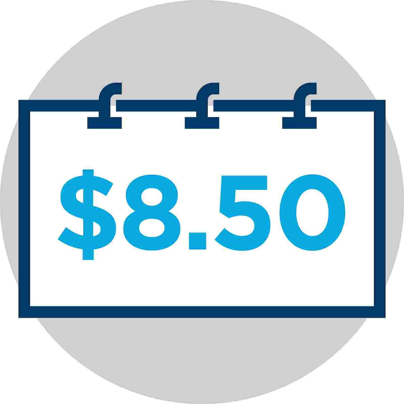 $8.50