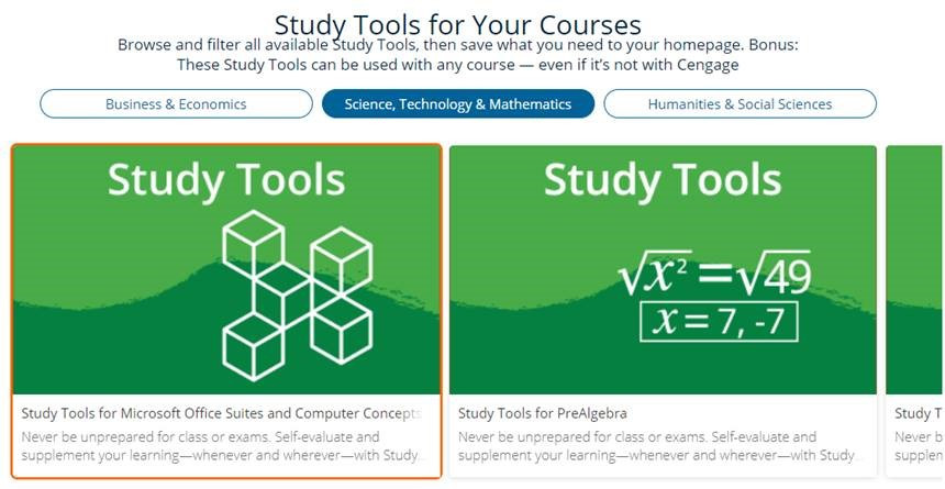 Study Tools Browse Catalog