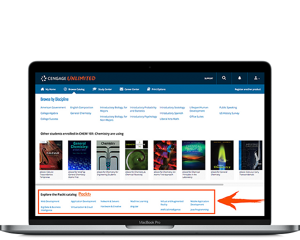 Packt access through Cengage Unlimited