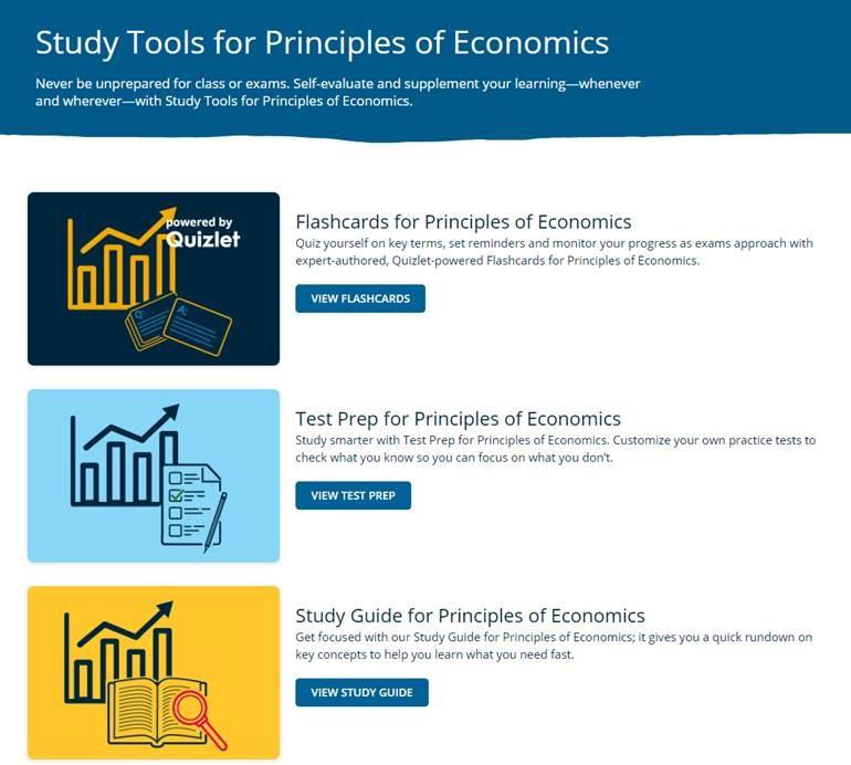 Study Tools Economics