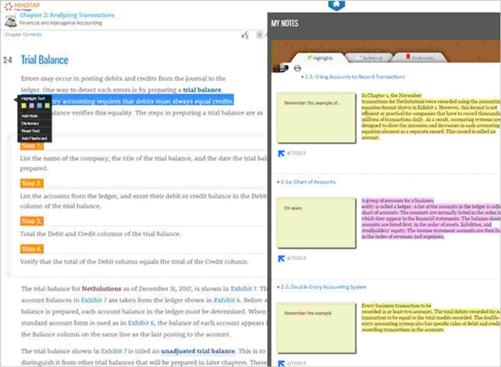 eReader Notes screen grab