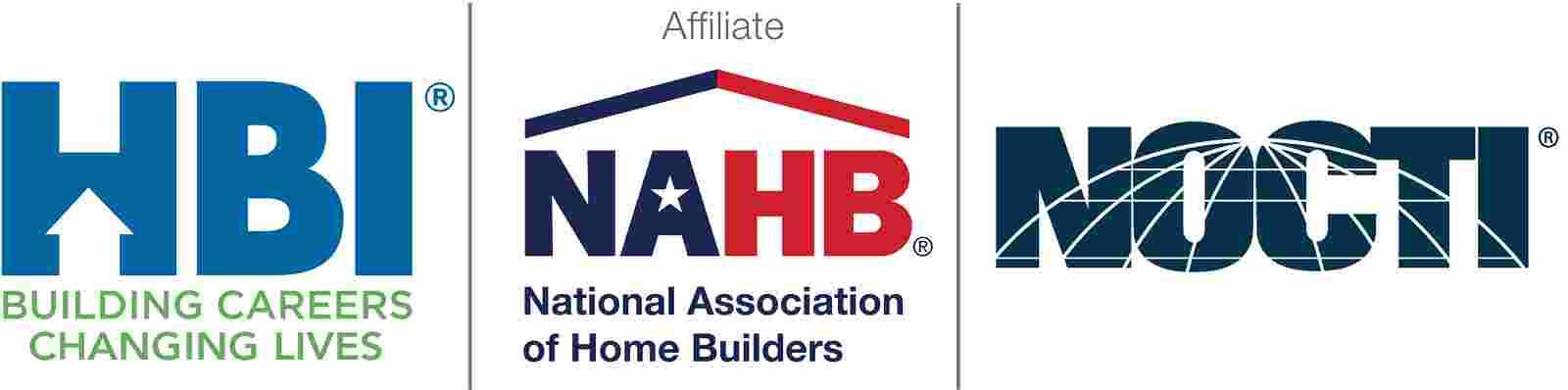 HBI, NAHB, NOCTI logos