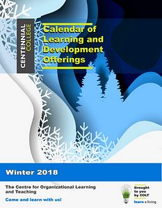 cover page colt calendar winter2018
