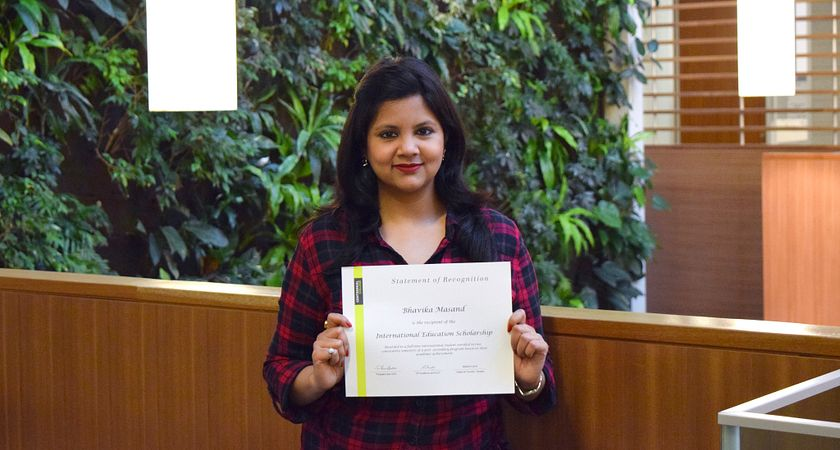 Picture of the Centennial College International Education Scholarship winner Bhavika Masand