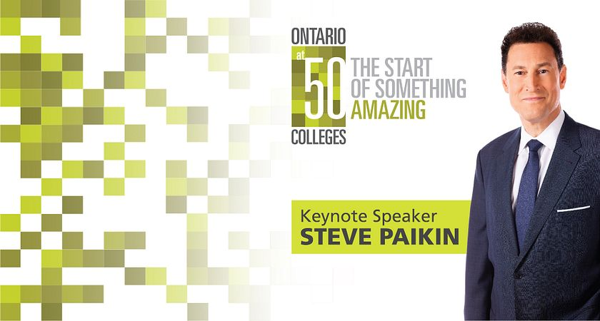 Picture of Centennial College Speaker Series guest speaker Steve Paikin
