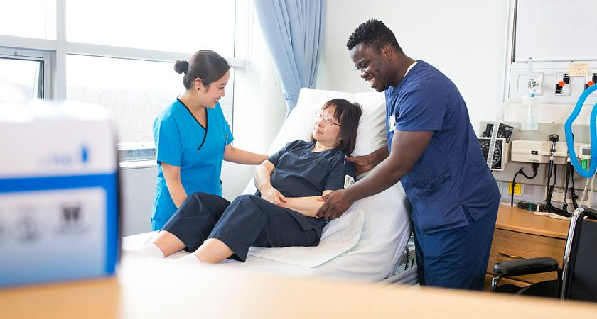 Photo of Personal Support Worker Students at Centennial College Labs