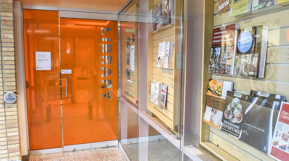 closed entrance to Story Arts Centre Library