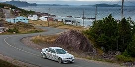 Centennial prof and student wrench at Targa Newfoundland Image
