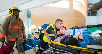 Fire disaster simulation puts first responders and healthcare workers to the test Image