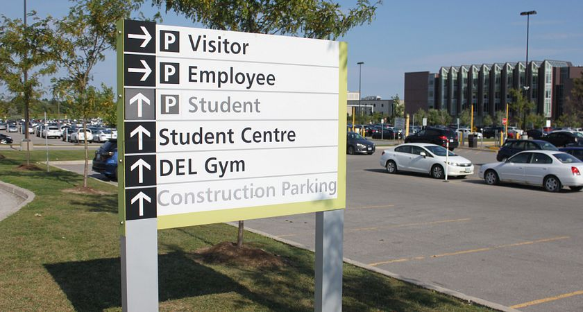 picture of the centennial college parking lot