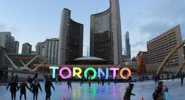 Photo of Nathan Phillips Square's Ice Rink