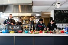 Picture of a Centennial College faculty members and chefs in the Local Cafe and Restaurant