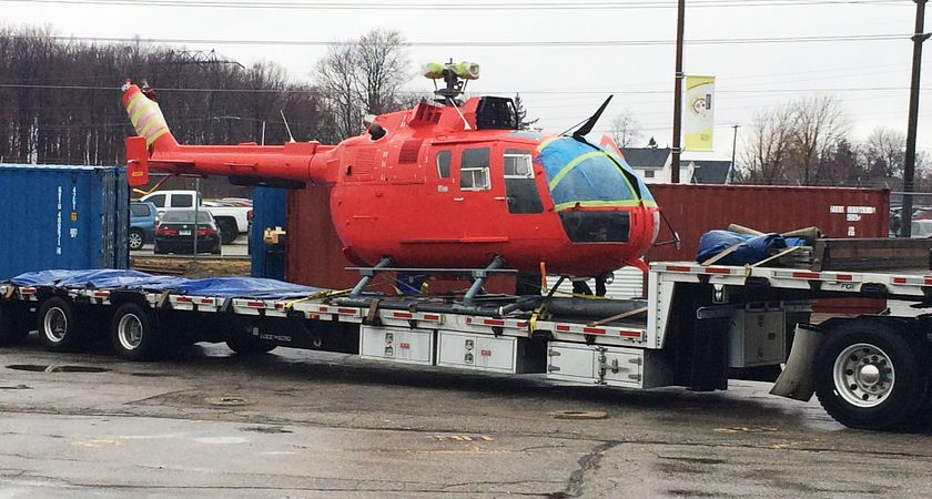 Helicopter donated to School of Transportation by the Canadian Coast Guard