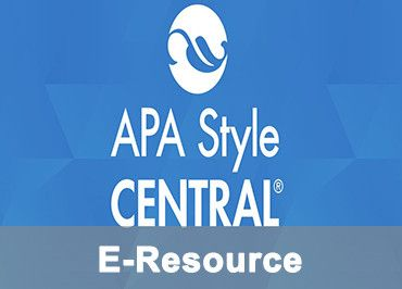 APA Style Central: New E-resource