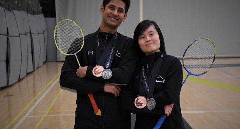 Jia Yi Feng is Centennial's Most Valuable Badminton Player