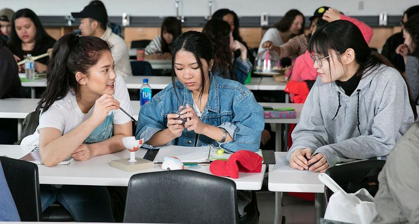 Picture of Centennial College students at the classroom