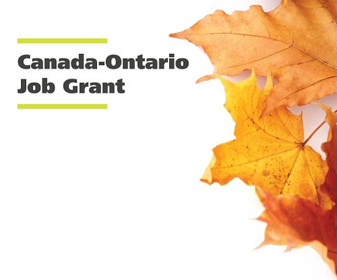 Canada Ontario Job Grant and maple leafs