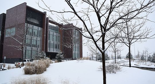 Photo of Centennial College during winter