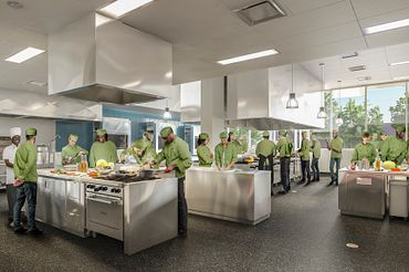 picture of the centennial college culinary lab