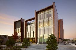 Picture of a building at Centennial College's Progress Campus, home of the School of Engineering Technology and Applied Science.