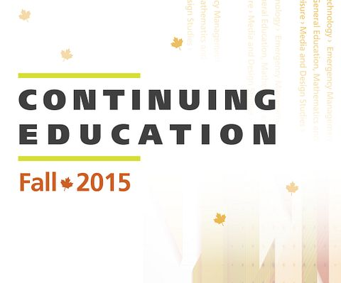 Picture of the Centennial College School of Continuing Education Fall 2015 Calendar