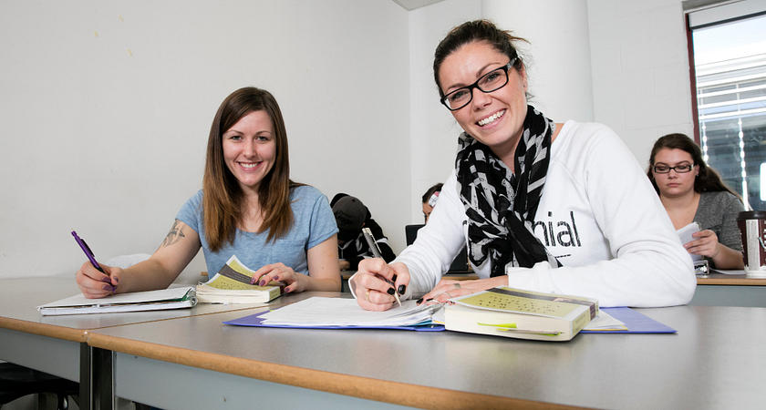 Picture of Centennial College Part-time Child and Youth program students in class